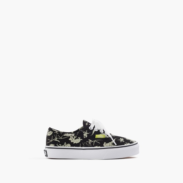 Kids' Vans® authentic glow-in-the-dark dinosaurs sneakers in smaller sizes