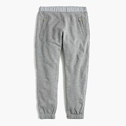 Girls' extra-cozy sweatpant with glitter tux stripe
