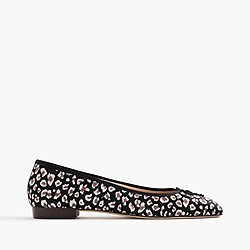 Collection Kiki leopard calf hair ballet flats