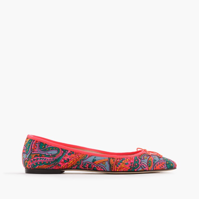 Gemma flats in paisley