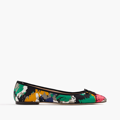 Gemma flats in colorful brushstroke print