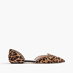 Collection sadie loafer flats in leopard calf hair