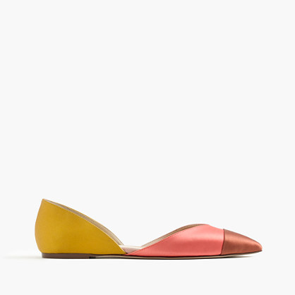 Sadie flats in colorblock satin