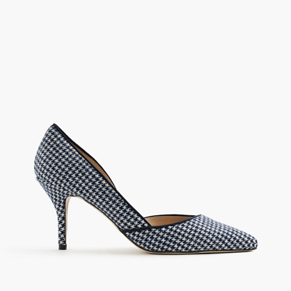 Colette d'Orsay pumps in houndstooth