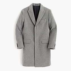 Ludlow peak-lapel topcoat in Italian wool-cashmere