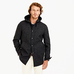 Hooded coach's jacket in wool