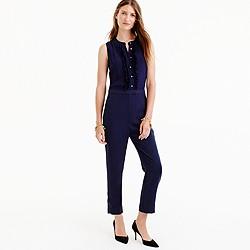 Petite ruffle-front jumpsuit