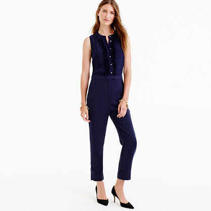 Tall ruffle-front jumpsuit