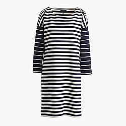 Colorblock stripe ponte dress