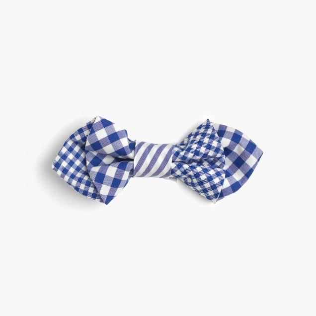 Boys' mash-up cotton bow tie