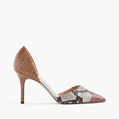 Elsie d'Orsay pumps in snakeskin-printed leather