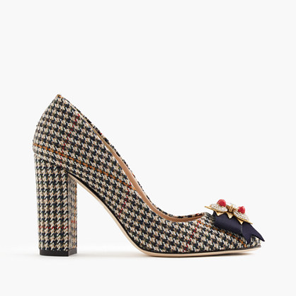 Collection Lena jeweled tweed pumps