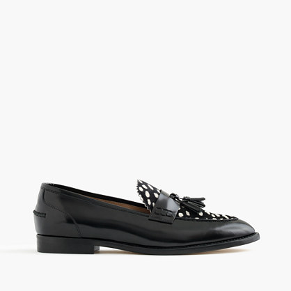Biella loafers in leather and calf hair