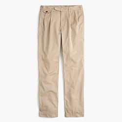 Wallace & Barnes double-pleated relaxed-fit military chino