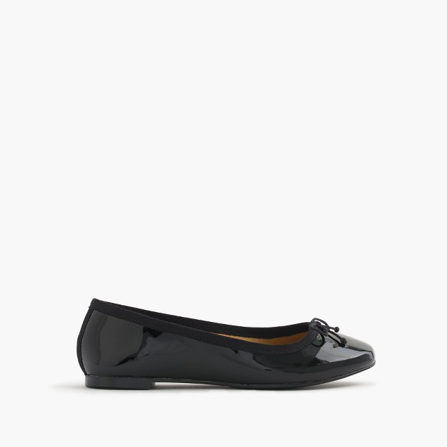 Girls' classic patent leather ballet flats