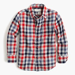Kids' flannel shirt in classic plaid