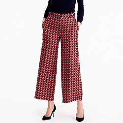 Collection pleated wide-leg pant in Ratti® geometric tile print