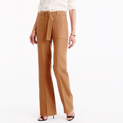 Collection belted pant in Italian wool