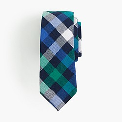 Boys' flannel tie in blue plaid