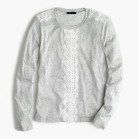 Long-sleeve T-shirt with lace