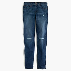 Tall distressed toothpick jean in Pamona wash