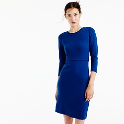 Long-sleeve midi dress in ponte