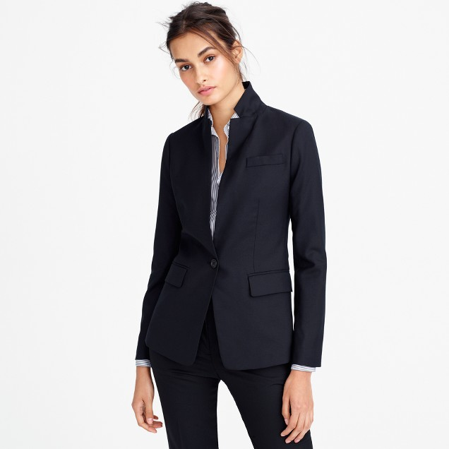Petite Regent blazer in Super 120s wool