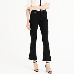 Tall Billie demi-boot crop jean in black