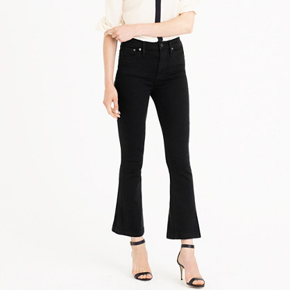 Tall Billie demi-boot crop jean in black