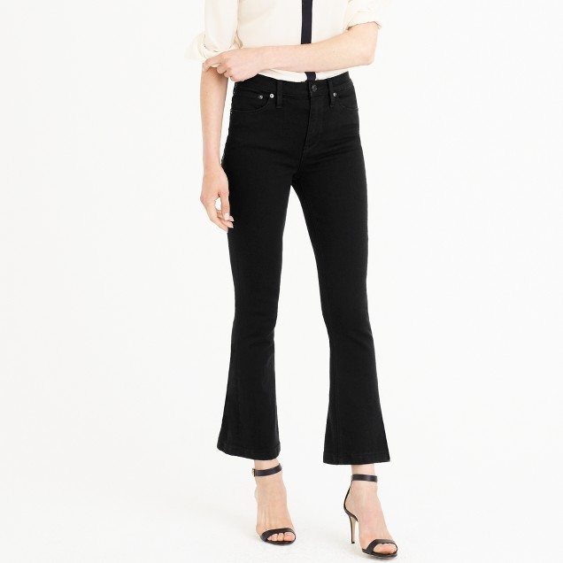 Billie demi-boot crop jean in black
