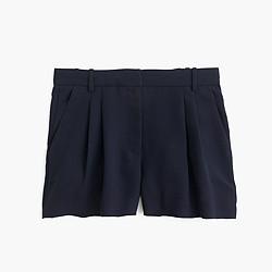 Polished pleated short