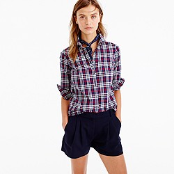Polished pleated short