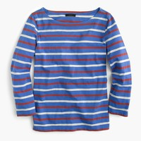 Boatneck T-shirt in mixed stripe