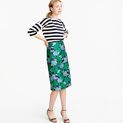 Collection skirt in chrysanthemum jacquard