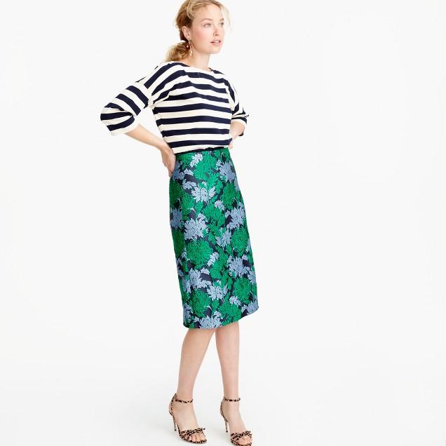 Collection skirt in chrysanthemum jacquard