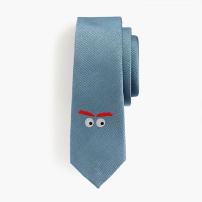 Boys' silk critter tie in Max the Monster