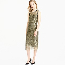 Collection deco skirt in metallic French lace