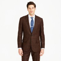 Ludlow suit jacket in herringbone windowpane English wool