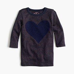 Girls' giant heart T-shirt