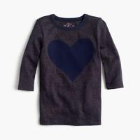 Girls' giant heart T-shirt