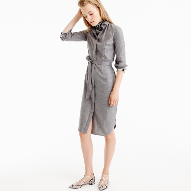 Collection shirtdress in Italian cashmere