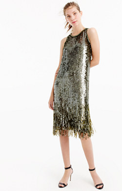Collection sequin fringe dress