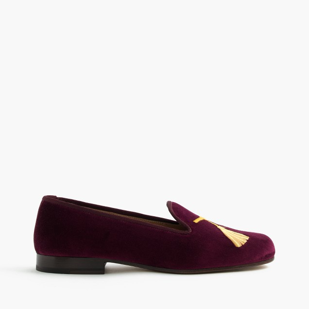 Stubbs & Wootton® for J.Crew embroidered tassel slipper