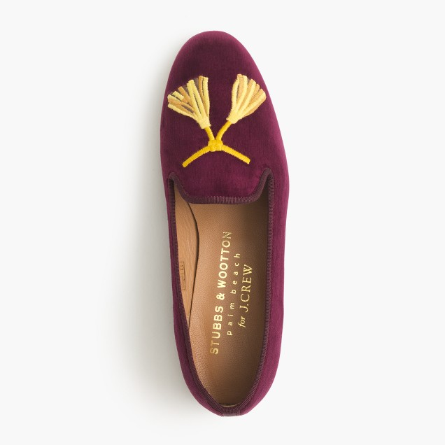 Stubbs & Wootton® for J.Crew embroidered tassel slipper