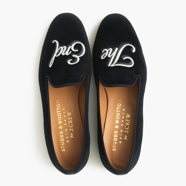 Stubbs wootton for j crew embroidered the end for J crew bedroom slippers