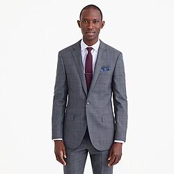 Ludlow suit jacket in windowpane English wool