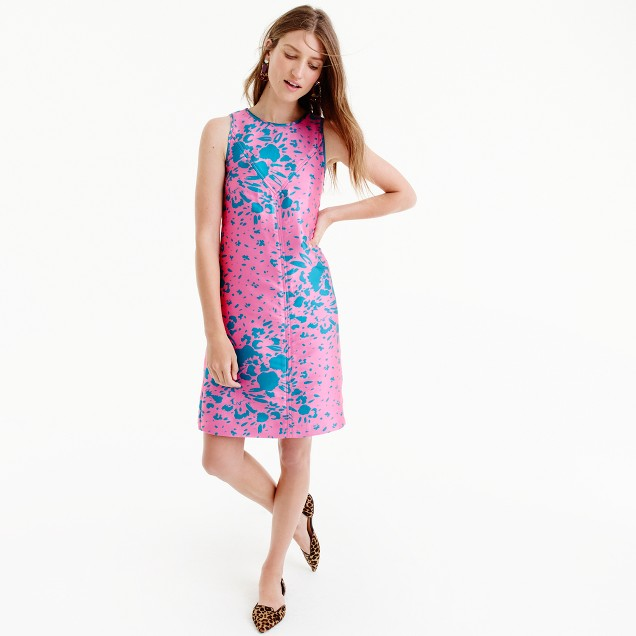 Collection A-line shift dress in Ratti® abstract floral