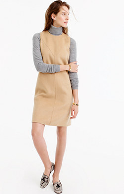 Collection A-line shift dress in double-faced cashmere