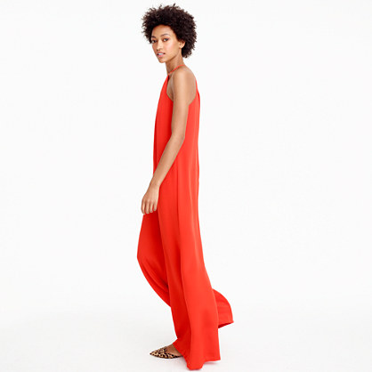 Collection dramatic jumpsuit in crepe de chine