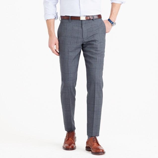 Ludlow suit pant in windowpane English wool